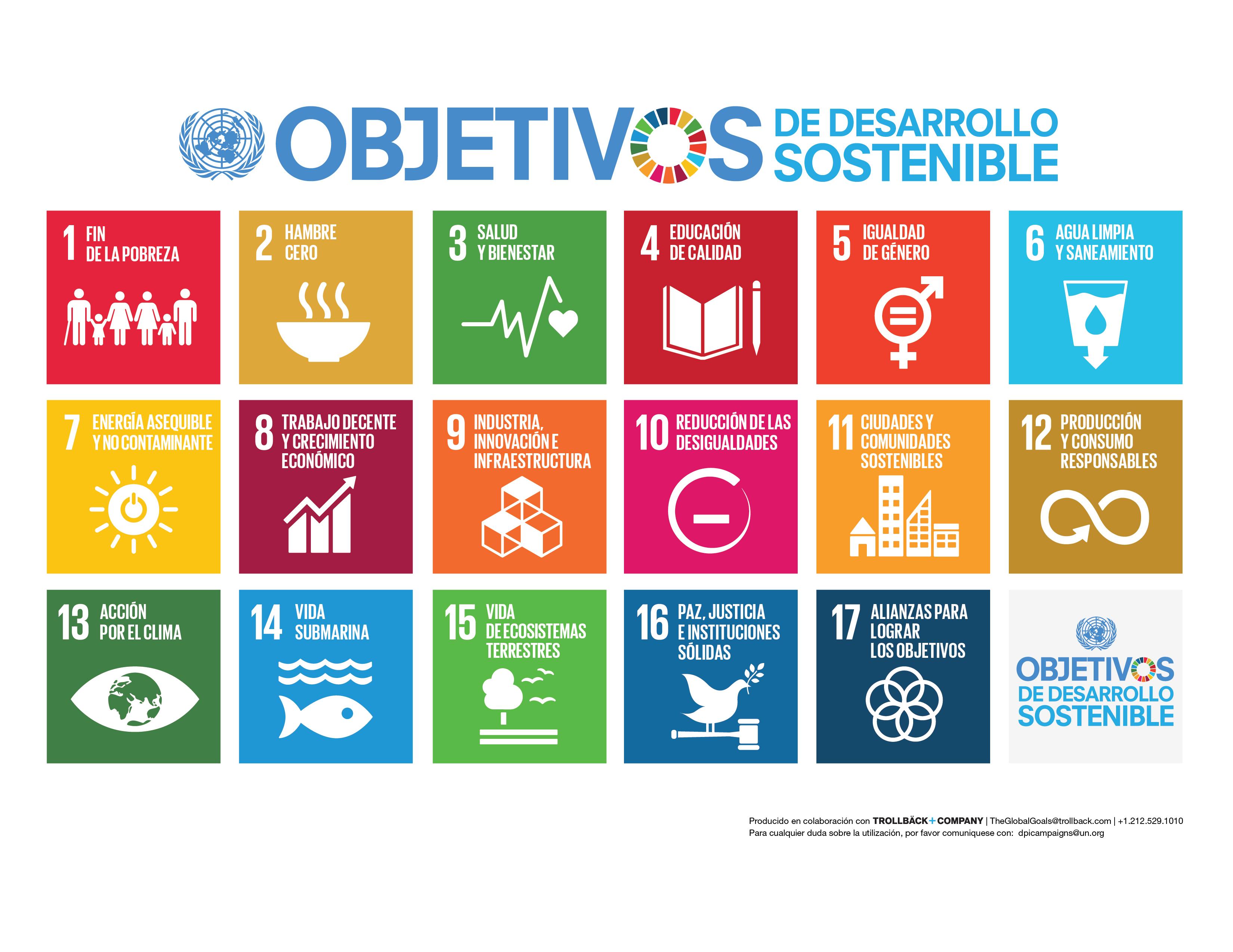 Objetivos de Desarrollo Sostenible propuestos por la ONU. Foto: www.un.org