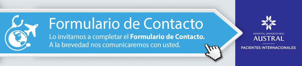 Formulario de Contacto | Exclusivo para Pacientes Internacionales