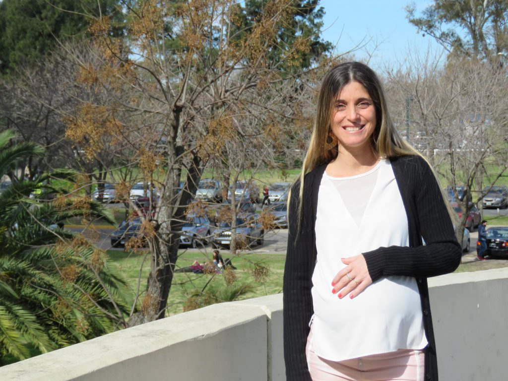 Hortensia Claps, de 37 años, es la primera paciente del país en la que se realizó con éxito una fetoscopía de espina bífida